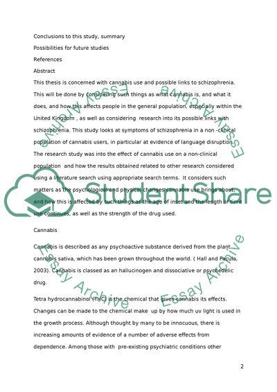 Phd thesis on schizophrenia