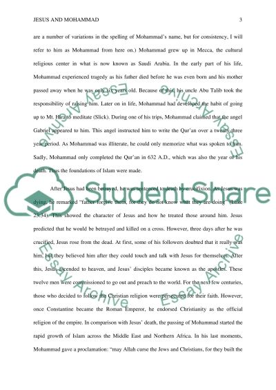 Jesus and Mohammed  Essay example