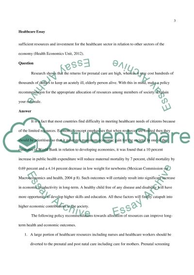 health essay 500 words