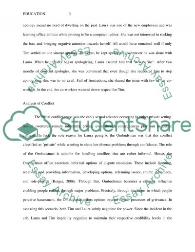 Analyzing Conflict and the Influence of a Collaborative Environment essay example