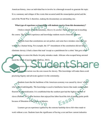 Slavery by Another Name Essay Example | Topics and Well