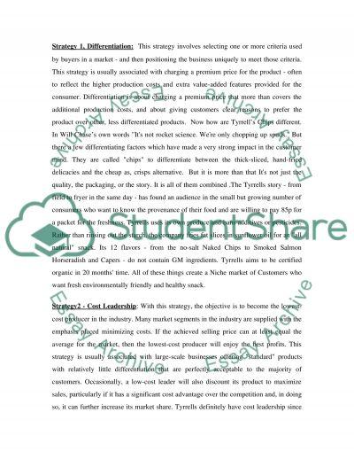Tyrrells Crisp Business essay example