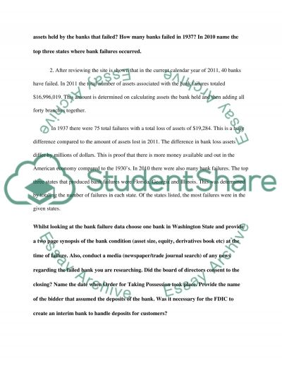 Financial Institutions essay example