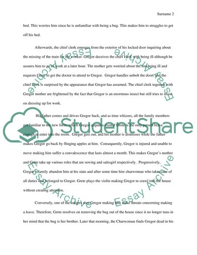 Example Of A Essay Paper Discuss Symbolism In The Metamorphosis Essay Paper Writing Services also Science Fiction Essays Discuss Symbolism In The Metamorphosis Essay Example  Topics And  Essay On Good Health