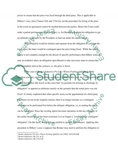 Contract Law Master Case Study essay example