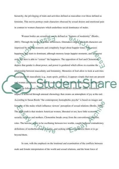 Research and Analysis of Eternal Sunshine of the Spotless Mind essay example