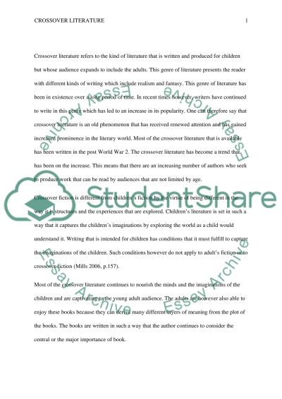 crossover literature essay example topics and well written  crossover literature essay example