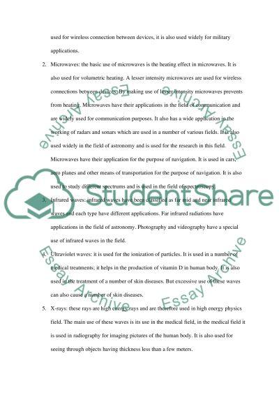 Physics essay example