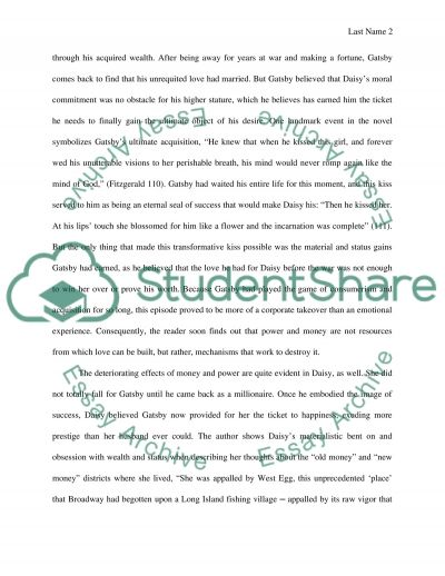 The Great Gatsby essay example