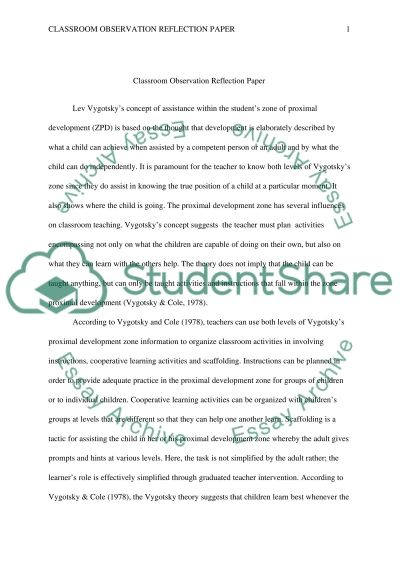 classroom observation essay example topics and well written  classroom observation essay example
