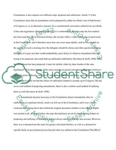 History paper: Amendments