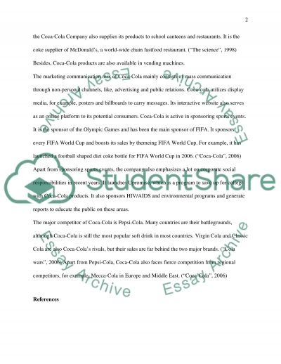 Branded Product Review: Coca-Cola essay example