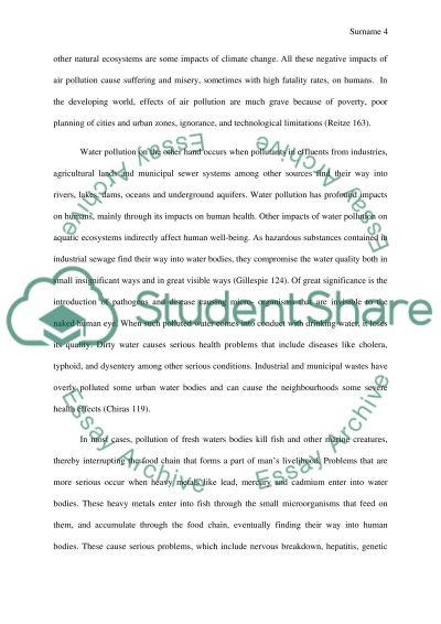 1000 words essay on environmental pollution