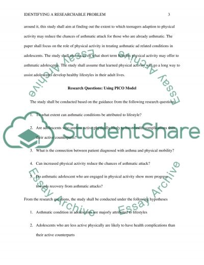 Identifying a Researchable Problem essay example
