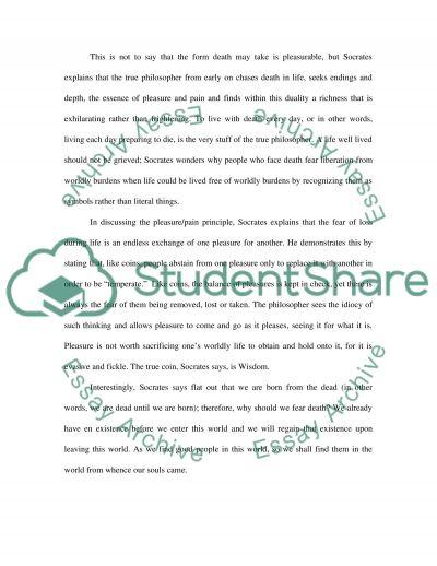 The Phaedo essay example
