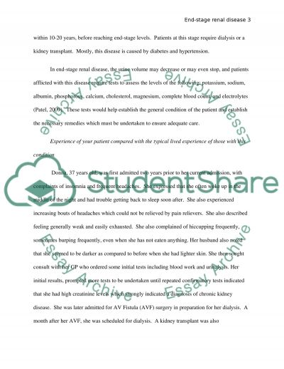 Chronic Condition essay example