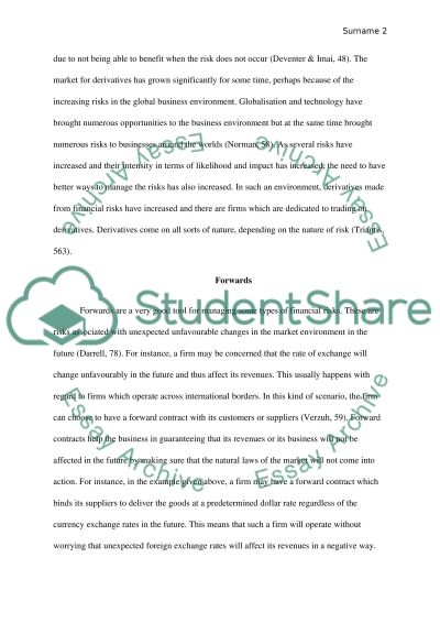 Corporate Risk Management essay example