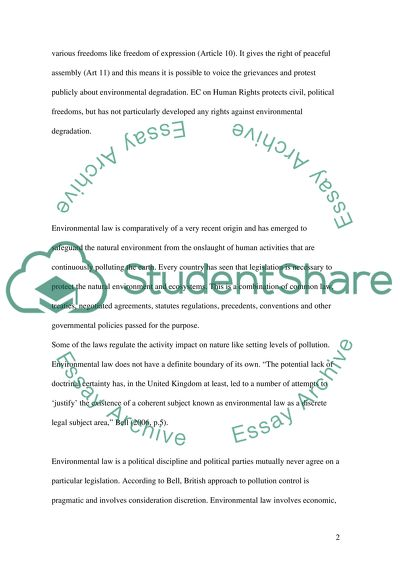 Environmental Protection Essay Example  Topics And Well Written  Environmental Protection