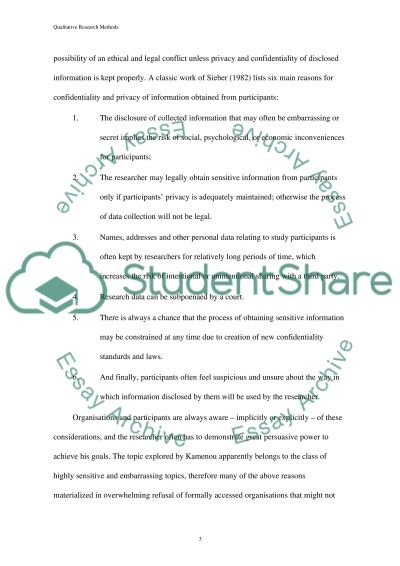 Qualitative Research Methods essay example