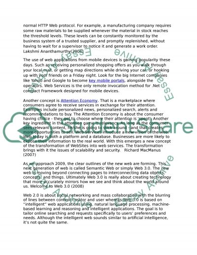 Web Services – Current Trends And Future Opportunities. Essay example
