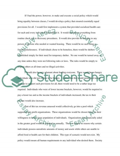 Homlessness Essay essay example