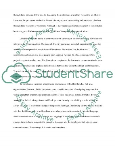 effective interpersonal relationships essay example topics and  effective interpersonal relationships essay example text preview