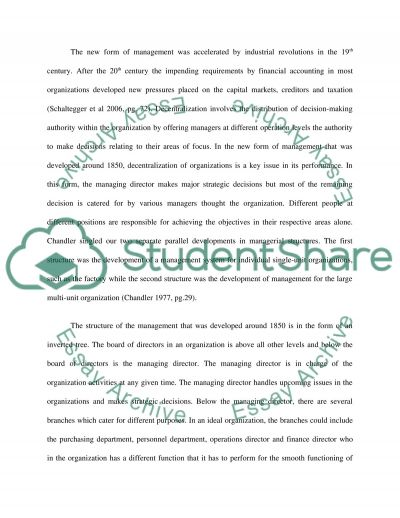 Management accounting essay example