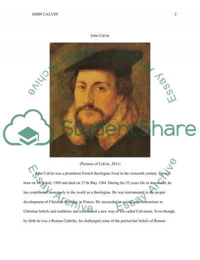 John Calvin essay example