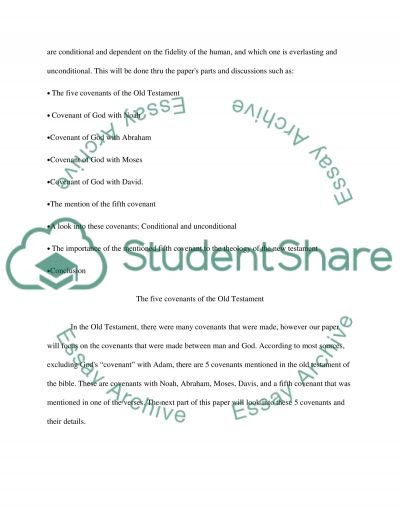 Covenants essay example