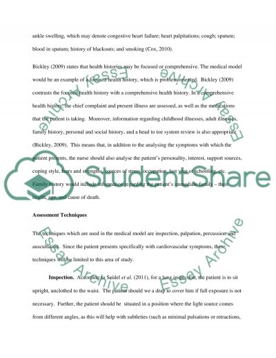Health Assessment Essay  Research Paper Academic Service