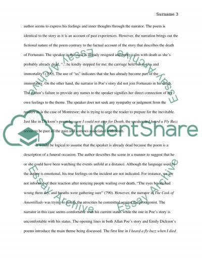 cask of amontillado by edgar allen poe essay example topics and   edgar allen poe essay example text preview