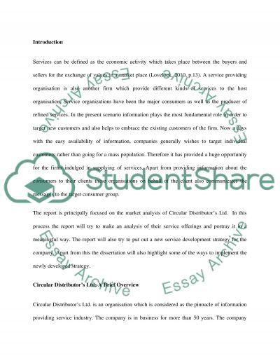 Circular Distributors Marketing Services essay example