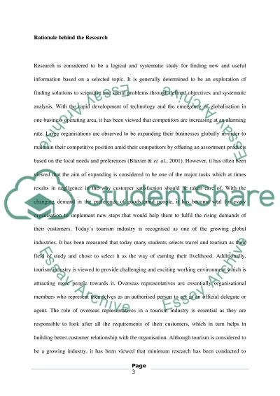 CUSTOMER CARE AND ROLE OF THE OVERSEAS REPRESENTIVE essay example