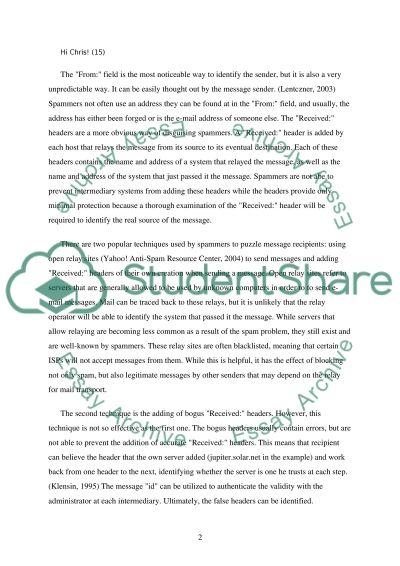 Spam Overview essay example