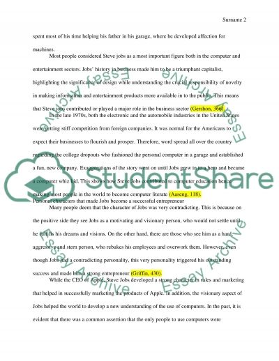 steve jobs influence paper Check out our top free essays on steve jobs to help you write your his influence in driving the technological comm 110 public speech paper -steve jobs.