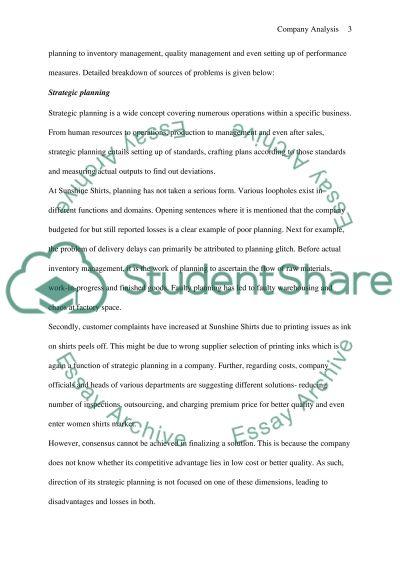 Exam Case Study essay example