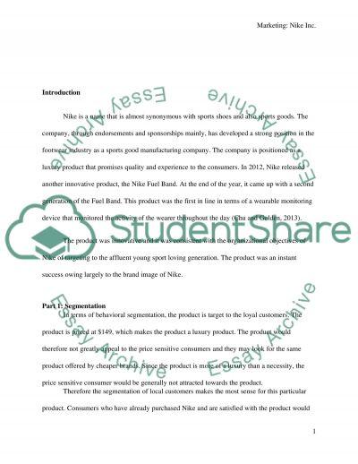 Nike Inc essay example