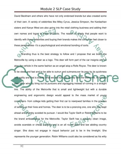 Strategic Marketing - Mod 2 Case Assignment Essay example