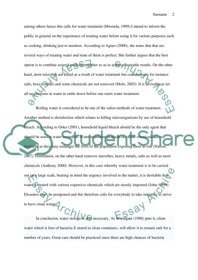 Disaster Management in Water Science essay example