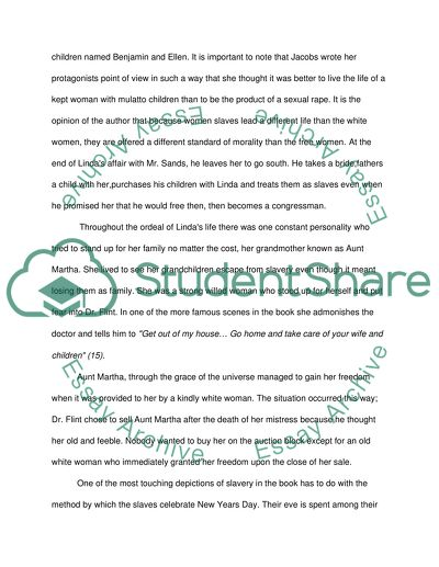 Incidents in the Life of a Slave Girl Essay Example | Topics