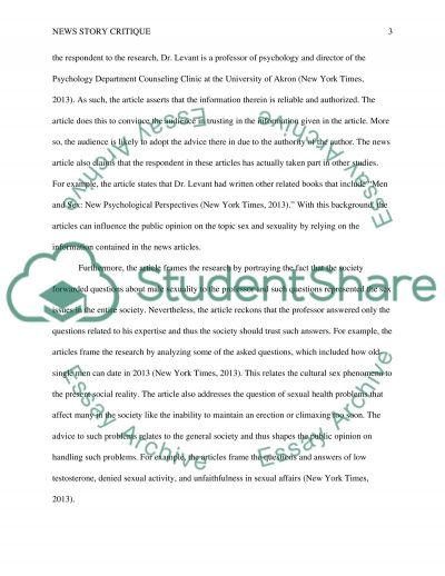 News story critique essay example