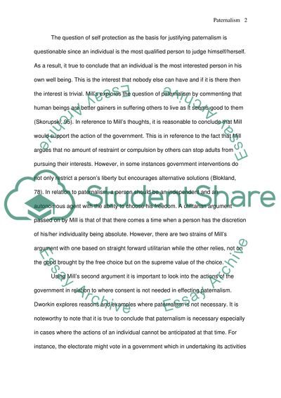 Paternalism Law Essay Example  Topics And Well Written Essays  Paternalism Law Essay