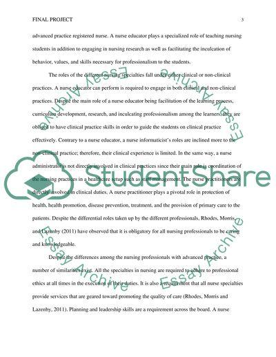Nursing career essays