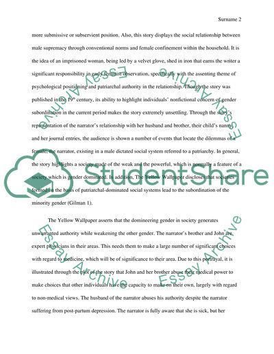 Last Year Of High School Essay  Thesis Statement For Friendship Essay also Sample High School Essays The Yellow Wallpaper Essay Example  Topics And Well Written  High School And College Essay