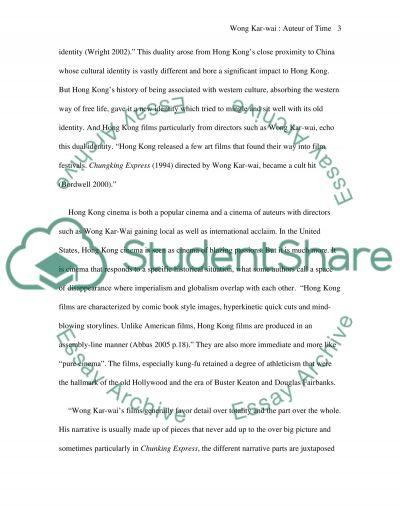 Won Kar-wai essay example