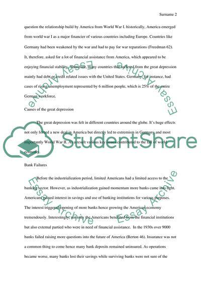great depression essay topics