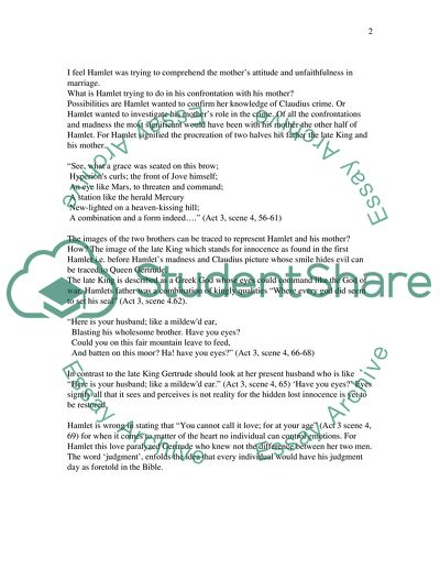 analysis of hamlet by william shakespeare essay example  topics and  analysis of hamlet by william shakespeare