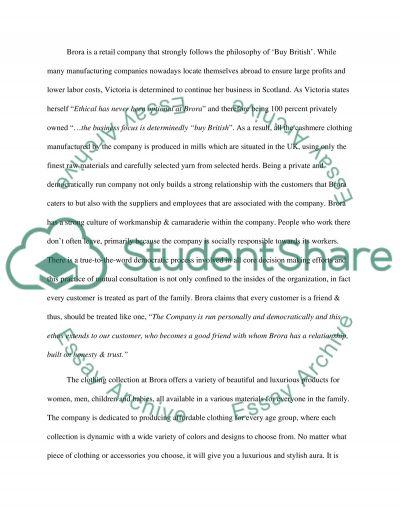 Brora Scottish Cashmere essay example