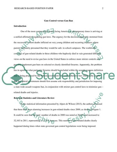 Research-Based Position Essay