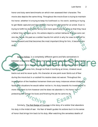 English essay example